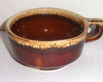 Vintage Soup Bowl - Brown Pottery Bowl - Drip Glaze Bowl - Pottery Bowl - Soup Bowl  - Ceramic Bowl