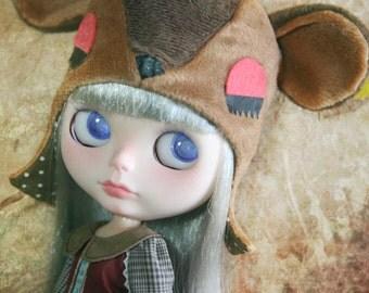 jiajiadoll coffee bambi deer hat fit Blythe SD BJD Pullip