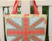 Union Jack Quilt Block and Tote Bag Pattern PDF