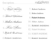 Printed Guest Names (for escort cards and place cards)