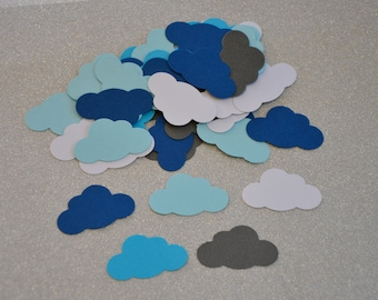 100 Pieces--Punched Clouds. Wedding Party. Table Decor. Baby Shower. Cards. Embellishments. Collage. Card Making