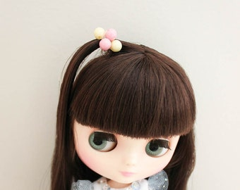 Mini Hair Ties Mini Pony Tail Holders Middie Blythe Hair Elastic Set for 1/6 dolls