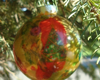 Glass Ornament Collage Christmas Tree