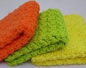 Custom listing for Debbie 2 sets Crochet Dishcloths Cotton Washcloths