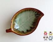 Ceramic Leaf Plate, ceramic plate, soap dish, light blue, sauce, little, mini, small, ceramic bowl, decoration, decor, decorative, iammie
