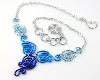 Spiral Waves Necklace