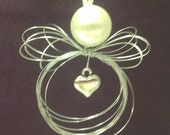 MINI Wispy Wire Angel Ornament with Solid Heart Charm