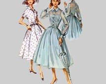 1950s Dress Sewing Pattern McCalls 4102  Size 12, Bust 32