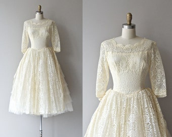 Ringing Bells wedding dress | vintage 1950s wedding dress • lace 50s wedding dress