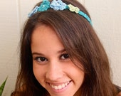 Flowers and Pearls Headband/Necklace