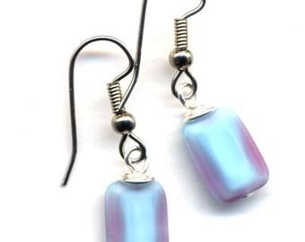 Baby Blue  Earrings, Mod Earrings, City Style Jewelry, Surgical Steel Earrings, Mod Handmade Jewelry by AnnaArt72
