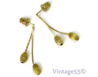 Earrings Gold tone Drop pierced