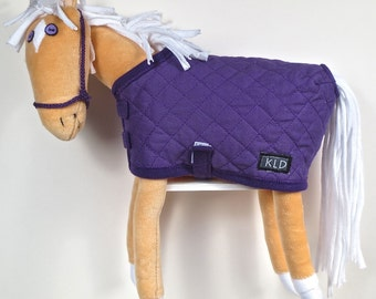 Purple Eyed Pony/ Palomino/ Purple Quilted Blanket