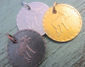Embossed Moose Necklace