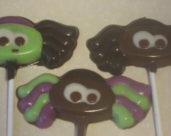 One dozen adorable spider lollipop suckers party favors