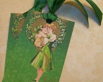 St. Patrick's Day Tags - Erin Go Bragh - Vintage Style - Set of 6