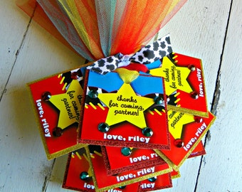 Toy Story - Jessie the Cowgirl Favor Tags...Set of 12 Jessie Favor Tags