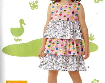 SALE! GIRLS PATTERN / Summer Dress -- Sundress / Easy To Do / Sizes 3 - 8