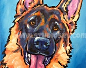 German Shepherd Print 11x14