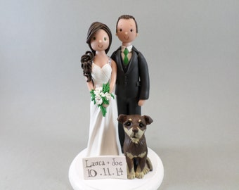 Bride & Groom Customized  Wedding Cake Topper