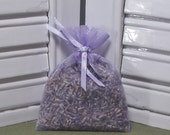 Lavender wedding favor, perfect for a favor, or a gift to say Thank you, organza bag filled with 100% dried lavender for a lovely scent