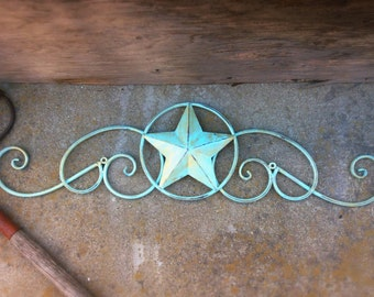 Metal Star Wall Decor, White Home Decor, Texas Star, Bedroom Decor, Shabby Chic,Country Star, Primitive Decoration