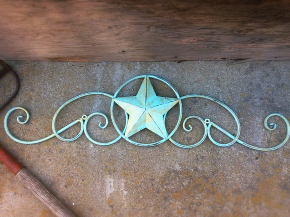 White Star Wall Decor : Metal star wall decor white home texas bedroom