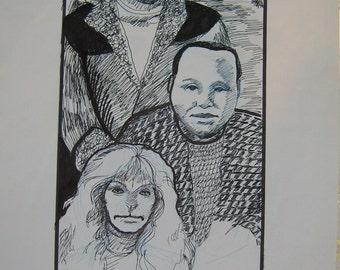 Beauty and the Beast TV 1987 - 1990, fan art, Devon, Winslow and Vincent, OOAK art