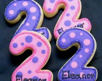 Number Cookies - 12 Cookies