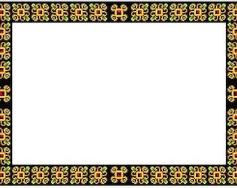 Border. Cross stitch pattern. Instant download PDF