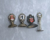 Sterling Souvenir Place Card Holders Germany  Austria Lot 4