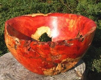The Red Void box elder bowl