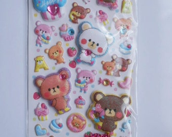 Kawaii Japanese Stickers - Sweets Bears - (75192)