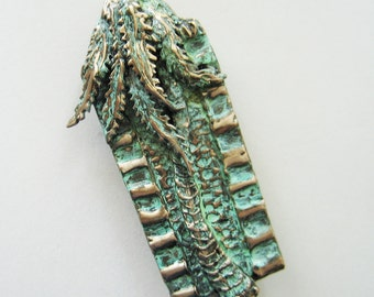 Jerusalem Palm Tree Mezuzah in Bronze