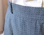 Gray Pencil Skirt -L/XL- Vintage Women's