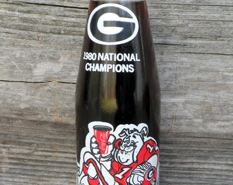UNIVERSITY of GEORGIA UGA Bulldogs 1980 Vintage Coke Bottle