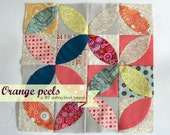 Orange peel tutorial/ Tea leaves patchwork tutorial. TKF patterns and tutorials.