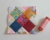 Tiny blocks tutorial series: tiny granny. TKF patterns and tutorials. TKF patchwork essentials