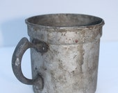 Very Rustic Metal Cup with Handle