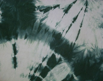 Green Hand Dyed Silk Fabric Shibori Extra Wide Half Yard Hemp Material Sedge Spiderweb