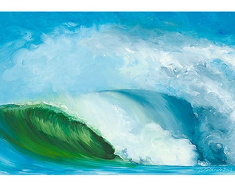 5x7 Greeting Card by Daina Scarola, Item #GC5X7-08 (surf art, wave, ocean, beach)