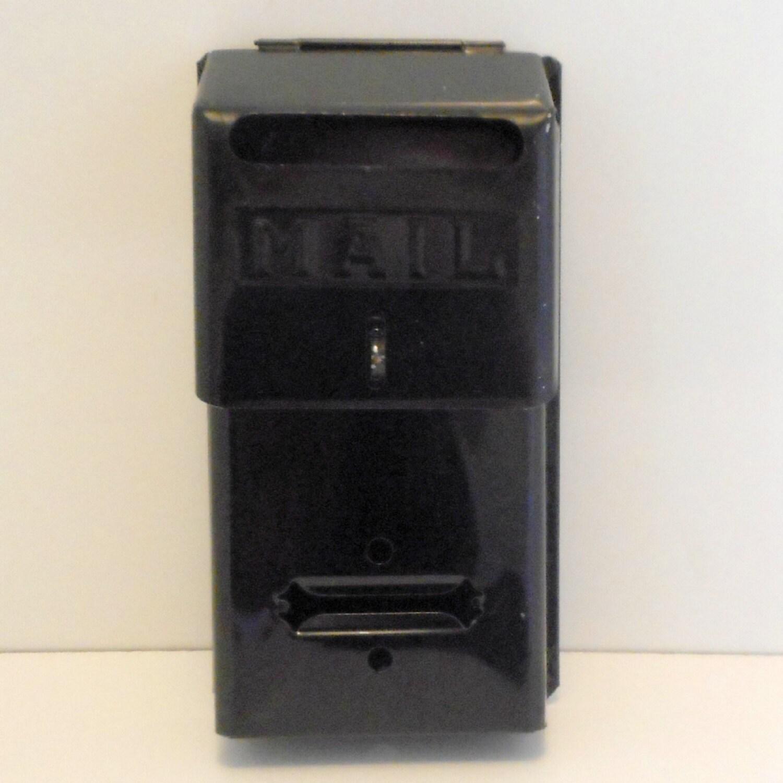 50s Black Metal Wall Mount Sears Mailbox Metal Mail Box
