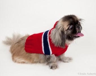 Chandail pour chien aux couleurs du Canadien de Montreal  // Habs  colors medium dog sweater