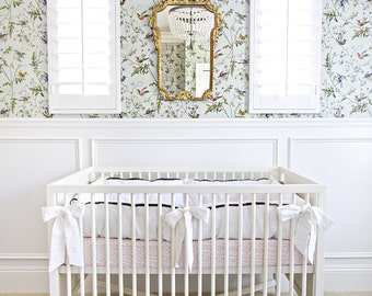 CHIC....crib bumper and skirt set..with trim