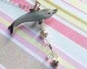 SUPER SALE Doris The Delightful Dolphin Necklace