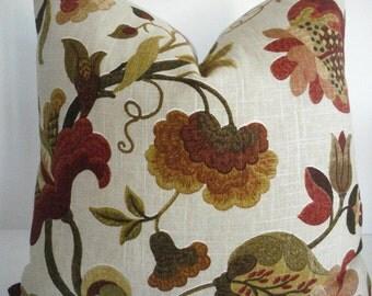 LINEN -Richloom Gloria -  Decorative Pillow Cover- Designer Pillow-Modern  Floral Toss Pillow -