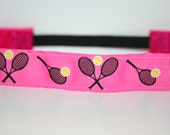 Tennis Love No Slip Headband - available in pink & white