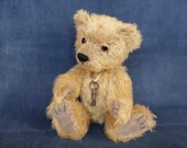 "E-Pattern of  artist teddy bear Benjamin 12 "" in PDF format, OOAK,  beige, amber,  mohair,  jointed"