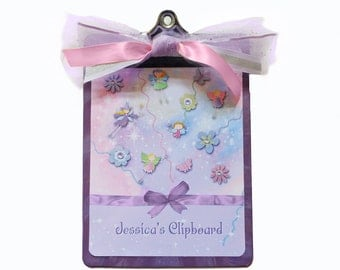 Decorative Clipboard Fairy Dust Pink and Lilac