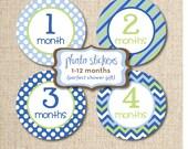 Baby Photo Monthly Sticker Designs, Digital DIY File, INSTANT DOWNLOAD
